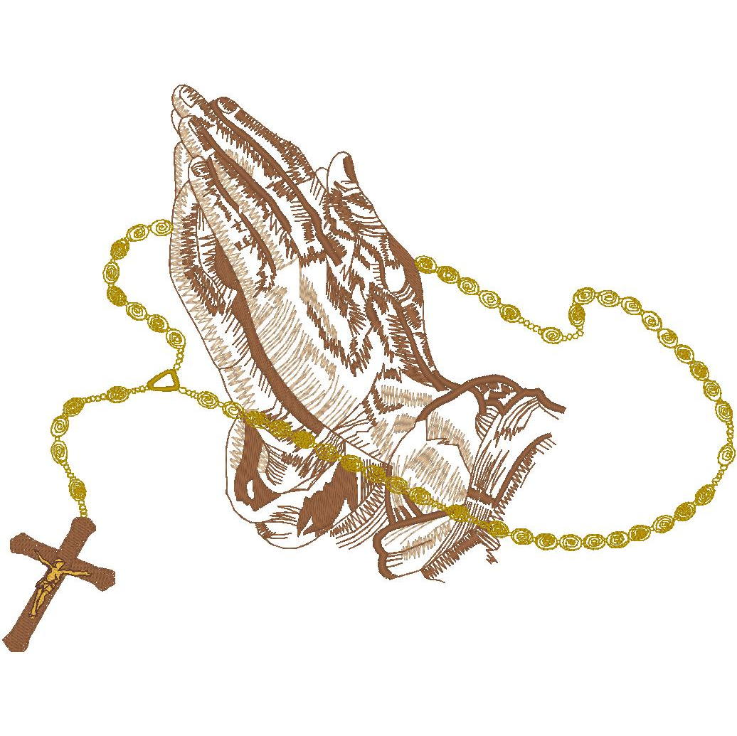 #113 Praying Hands/Rosary