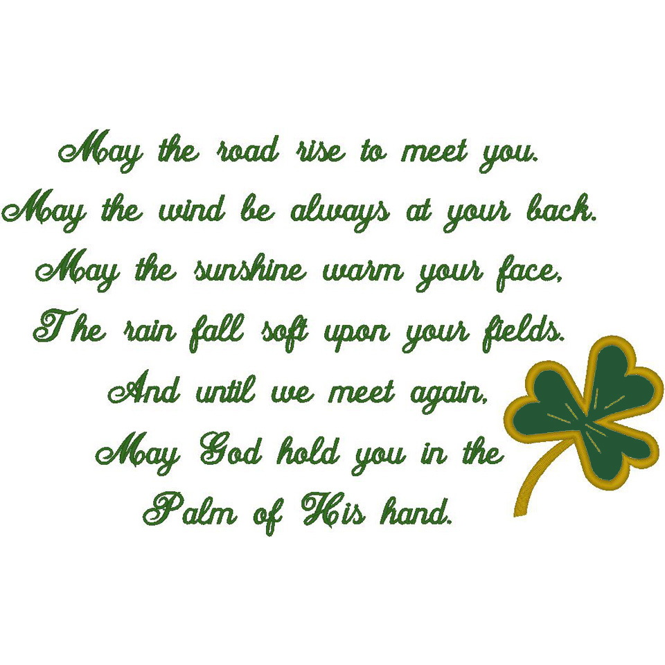 #66:Irish Prayer/Shamrock (PM)