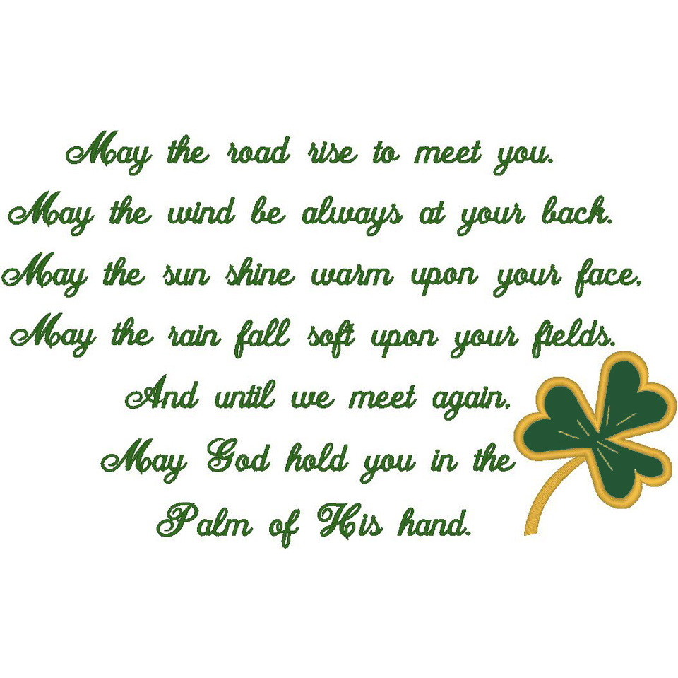 #147 Irish Prayer/Shamrock