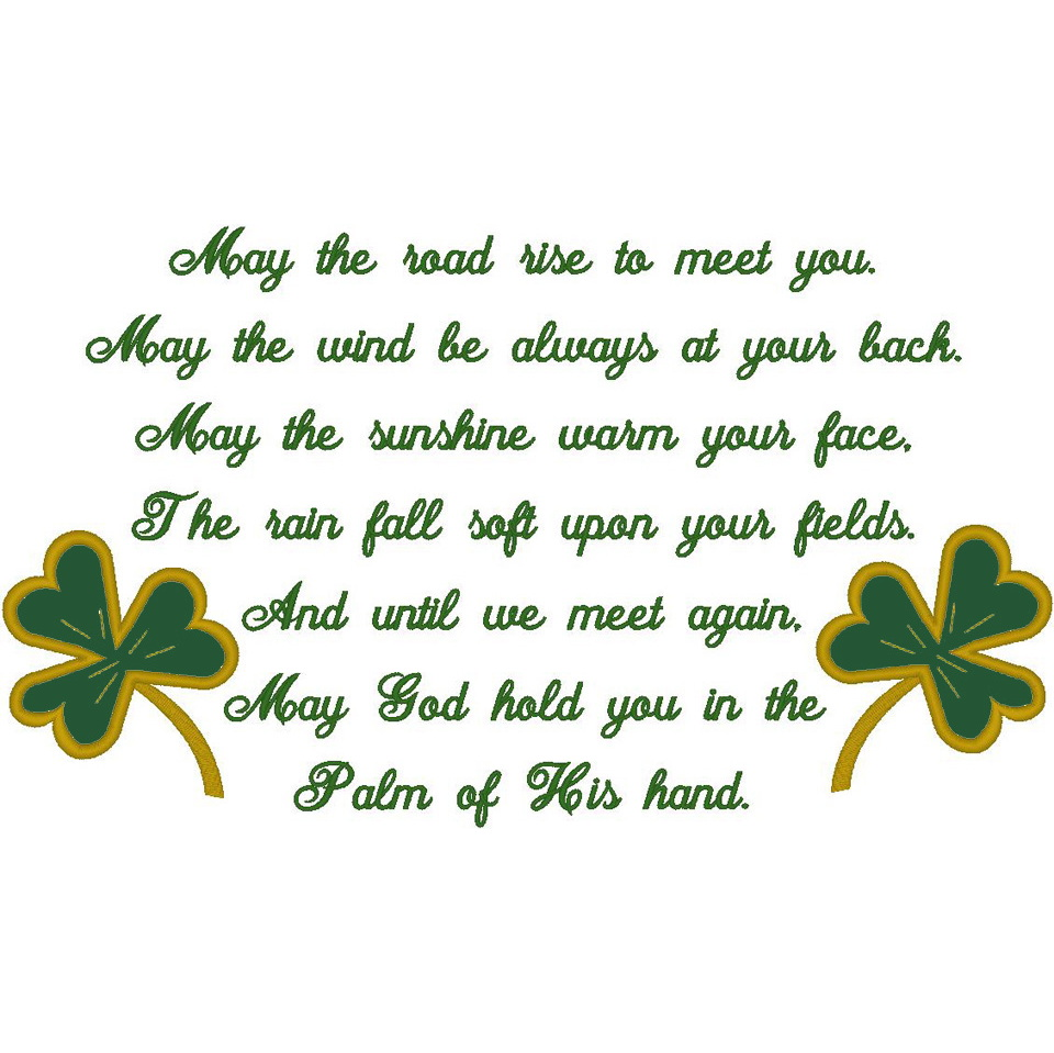 #66 Irish Prayer/2-Shamrocks